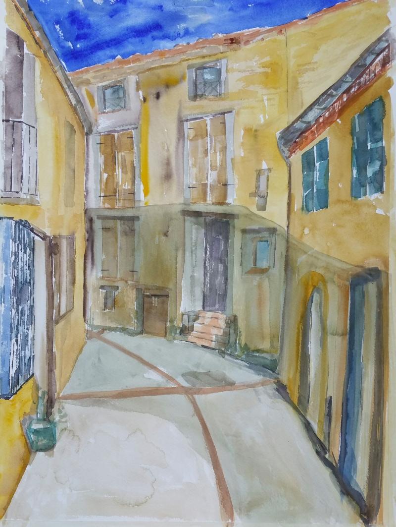 Straatje in Estoher / Frans Catalonië